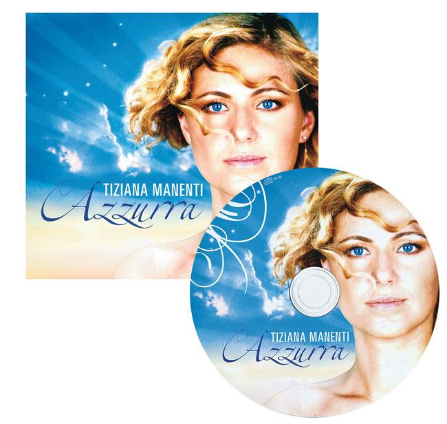 Tiziana Manenti e la copertina del Cd Azzurra